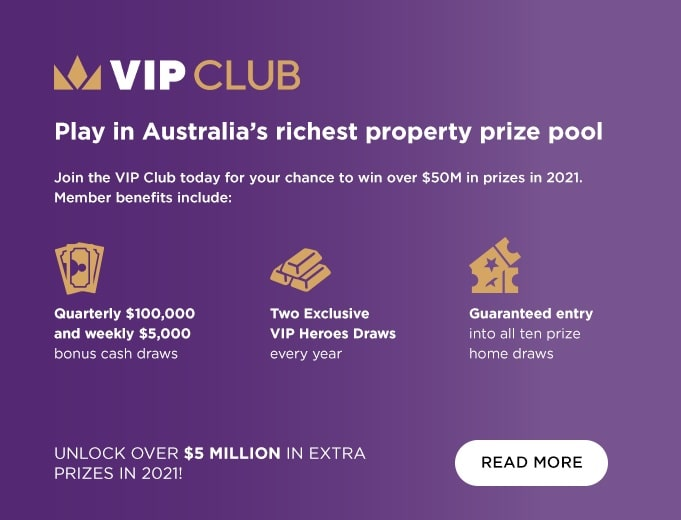 VIP Club giving you access to VIP exclusive prize draws